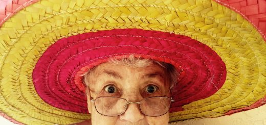 Old woman with a big sombrero